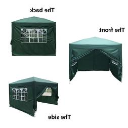 Pop Up Canopy Commercial Outdoor Party Tent w/ 4 Sides Wall