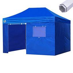 Eurmax Premium 10x15 Pop up Canopy W/4 Walls +Roller Bag