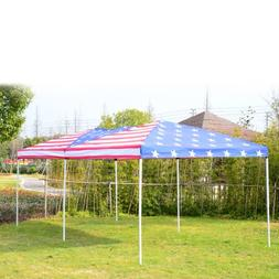 Outsunny 10' x 20' Pop-Up Canopy Shelter Party Tent with Mes