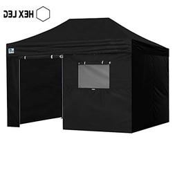 Eurmax Premium 10x15 Pop up Canopy W/4 Walls +Roller Bag