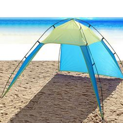 Pop Up Beach Tent Sun Shade Triangle Patchwork Outdoor Campi