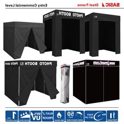 Pop Up Fortable BLACK PHOTO BOOTH Franchise Canopy Tent W/Si