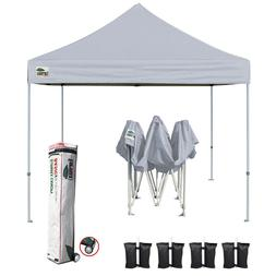 Pop Up Gazebo 10x10 Gray Patio Folding Canopy Instant Sunsha