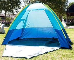 Portable Pop Up Family Beach Tent Outdoor UV Protection Cano