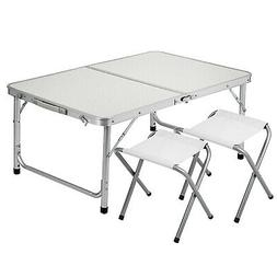 Portable Folding Picnic Camping Set BBQ Party Aluminium Tabl
