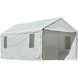 ShelterLogic Portable Garage Canopy Carport, 10' x 20', Whit