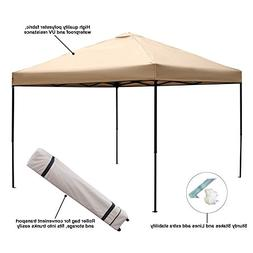 Blissun 10 x 10 Ft Outdoor Portable Instant Pop-Up Canopy Te