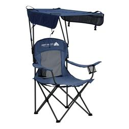 Potable Folding Canopy Camping Chair with Cup Holders Sun Sh