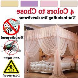 Princess 4 Corners Kid Baby Bedroom Bed Curtain Canopy Mosqu