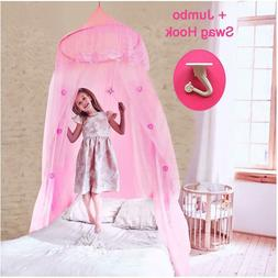EVEN NATURALS Princess Bed Canopy for Girls, with Lace Dome