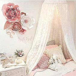 Princess Bed Canopy Lace Mosquito Net for Kids Baby , Round