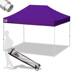Purple 10x15' Commercial Pop UP Canopy Tent Folding Waterpro