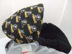 Ravens team print canopy & black minky infant slip cover set