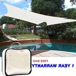 Quictent 16' x 20' Rectangle Sun Sail Shade Canopy Top Outdo