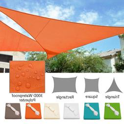 Waterproof Sun Shade Sail Patio Pool Top Cover Canopy 300D U