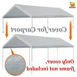 Replacement Canopy for 10x20' Carport Tent Top Garage COVER