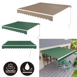 Retractable Manual Patio Awning Canopy Cover Deck Door Cafe
