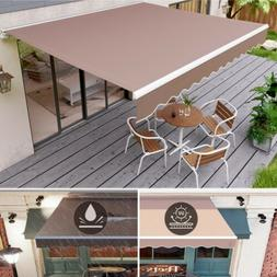 retractable manual patio awning canopy cover deck