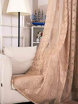 Aside Bside Rod Pocket Semi Sheer Curtains Luxurious Style F