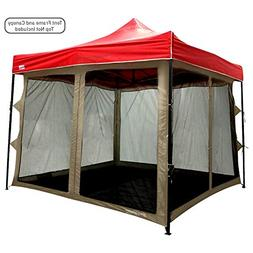 Screen Room attaches to any 10ftx10ft Easy Up Pop Up Screen