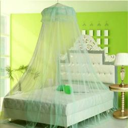 Round Elegant Lace Bed Mosquito Netting Mesh Canopy Princess