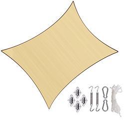 Sunlax 13' x 20' Sand Color Rectangle UV Block Sun Shade Sai