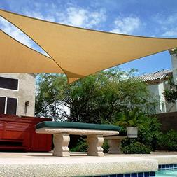 Shade&Beyond 16' x 16' x 16' Sand Color Triangle Sun Shade S