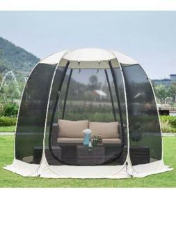 Alvantor Screen House Room Camping 10x10 Beige Instant Canop