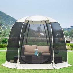 Screen House Room Camping 10x10 Beige Instant Canopy