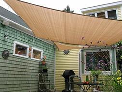 8' x 10' Rectangle Sun Shade Sail, UV Block for Outdoor, Pat