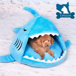Shark Dog Cat Pet Canopy Teepee Tent House Bed Kennel With o