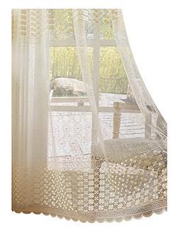 Aside Bside Sheer Curtains Clover Embroidered Elegance Windo