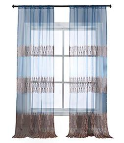 sheer window curtains feather print