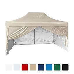 Quictent Silvox Waterproof 10'x15' EZ Pop Up Canopy Gazebo P