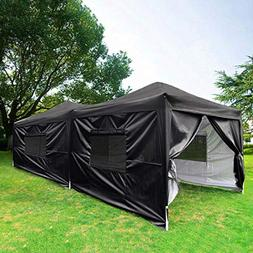 Quictent Upgraded Privacy 10x20 EZ Pop Up Canopy Tent Instan