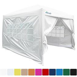 Quictent Silvox Waterproof 10x10' EZ Pop Up Canopy Multifunc