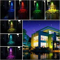 Gotian Solar LED Flood Lights, 20Pcs LED RGB Color Changing
