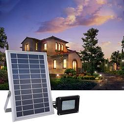 Gotian Solar LED Flood Lights, 54 LED 6W RGB Color Changing