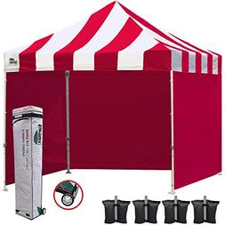 Eurmax 10x10 EZ Pop up Canopy Tent Commercial Portable Marke