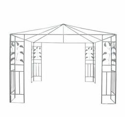 Outsunny 10' x 10' Steel Gazebo Frame - Leaf Design