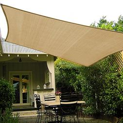 Shade&Beyond 10'x10' Sun Shade Sail Canopy UV Block for Pati