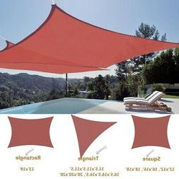 Sun Shade Sail Outdoor Canopy Top Cover UV Block Triangle Sq