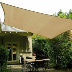 Sun Shade Sail Outdoor Patio Deck Pool Canopy Cover UV Block