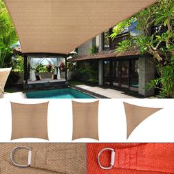 Sun Shade Sail Outdoor Patio Pool Lawn Rectangle/Triangle Ca