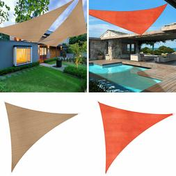 Sun Shade Sail Outdoor Top Canopy Patio Lawn Pool 16.5' Tria