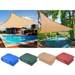 Sun Shade Sail Outdoor Top Canopy Patio 11.5' 16.5' Triangle