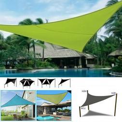 Waterproof Sun Shade Sail Patio Pool Top Cover Canopy 300D U