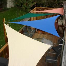 Sun Shade Sail Triangle Permeable Patio Pool Pergola Canopy