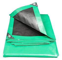 King Canopy Super Heavy Duty Tarp in Green and Black, 20' L
