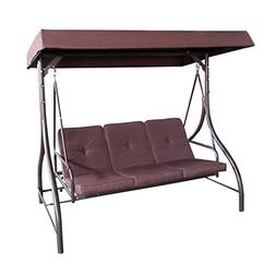 ALEKO SWC03BR Outdoor Garden Porch Swinging Couch and Daybed